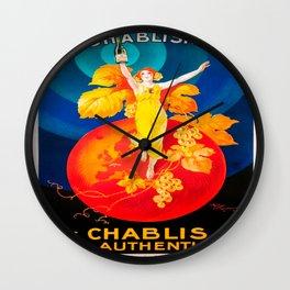 Vintage poster - La Chablisienne Wall Clock