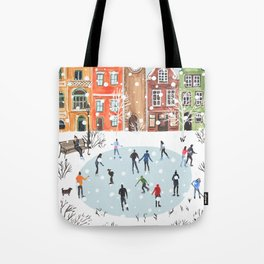 winter town Tote Bag