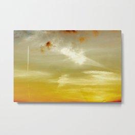 Sunset Sky in Norfolk Metal Print