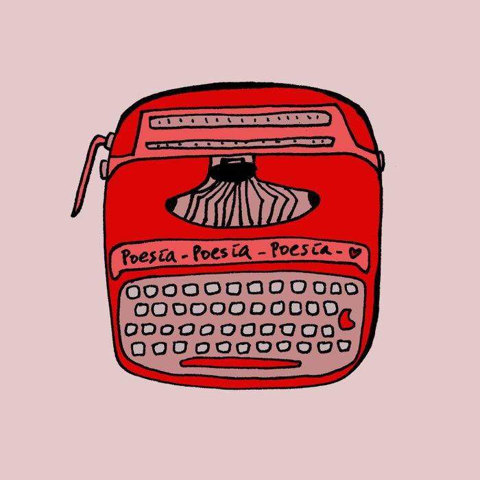 Poesía typewriter Duvet Cover