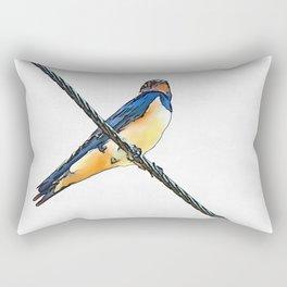 Swallow Bird On A Wire Rectangular Pillow