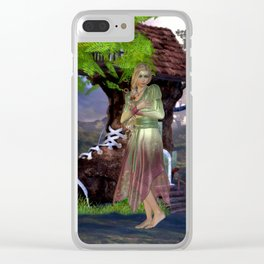 Green Fairy and Shoe House Clear iPhone Case
