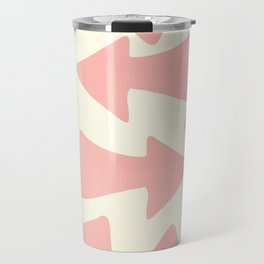 Peach Arrows on Pale Yellow Travel Mug