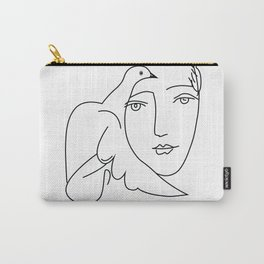 peace poster line art picasso, Pablo Picasso minimalist art,large ,modern art, Carry-All Pouch