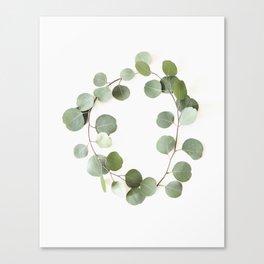 Eucalyptus Circle Canvas Print