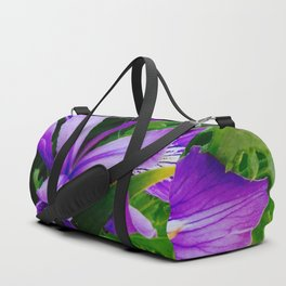 Wild Purple Iris Duffle Bag