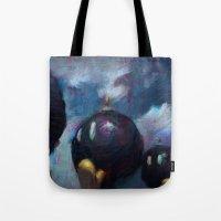 mario kart Tote Bags featuring Mario by Ronan Lynam