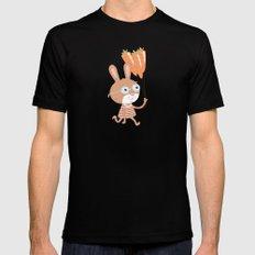 Happy Bunny Mens Fitted Tee Black MEDIUM