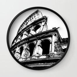 Coliseum lines Wall Clock