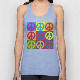 Pop Art Peace Symbols Unisex Tank Top