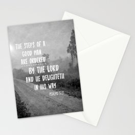 Steps of a Good Man Bible Verse Stationery Cards