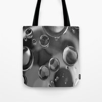 bubbles Tote Bags featuring Bubbles by Fine Art by Rina