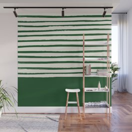 Holiday x Green Stripes Wall Mural