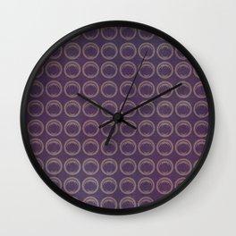 Blue Circle Geometric Wall Clock