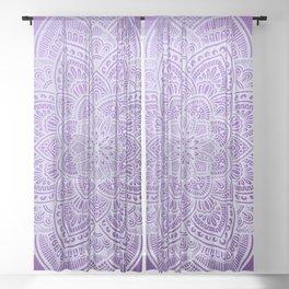 Mandala Purple Sheer Curtain