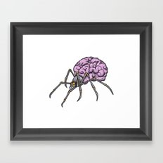 brain spider Framed Art Print