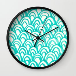 Minty Scales of the Sea Wall Clock