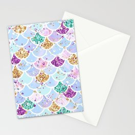 Sparkly Mermaid Tail Stationery Cards