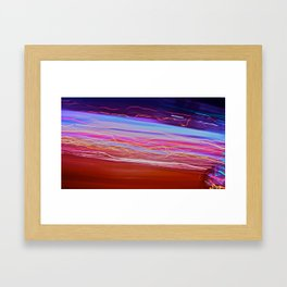 City (Light)s (Graffiti) 2 Framed Art Print