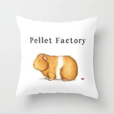 Pellet Factory - Guinea Pig Poop Throw Pillow