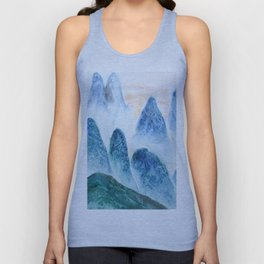 dawn in the mountain forest Unisex Tank Top