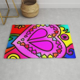 Colorful Modern Love Rug