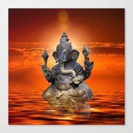 Elephant God Ganesha Canvas Print