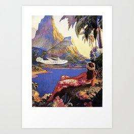 Tropical Island Travel Art Print
