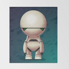 Marvin the Paranoid Android Throw Blanket