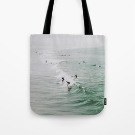 lets surf iv / venice beach, california Tote Bag