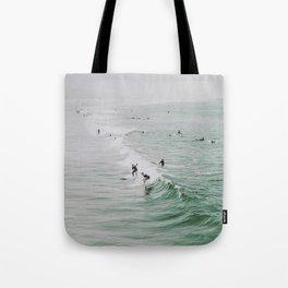 lets surf iv / venice beach, california Tote Bag
