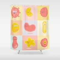 body Shower Curtains featuring Body cells by Mila Spasova