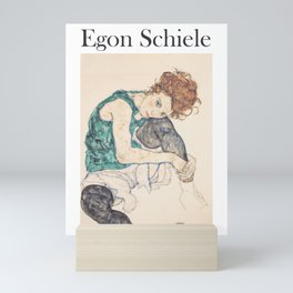 Egon Schiele [] Seated woman with legs drawn up Mini Art Print