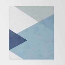Geometrics - blues & concrete Throw Blanket