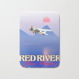 Red River China Vietnam travel poster. Bath Mat