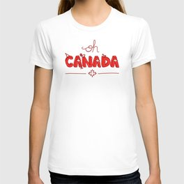 Oh Canada Day (Handlettered) T-shirt