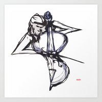 cello Art Prints featuring Cello by Myles Hunt