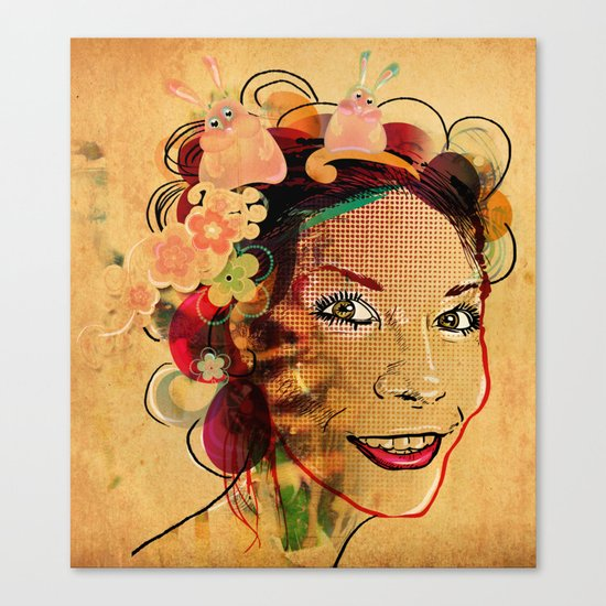 Happy Girl Canvas Print