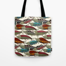 Alaskan salmon pearl Tote Bag
