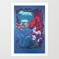 Rock Mermaid Art Print