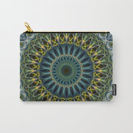 Blue and yellow mandala Carry-All Pouch