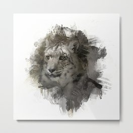 Expressions Snow Leopard 2 Metal Print
