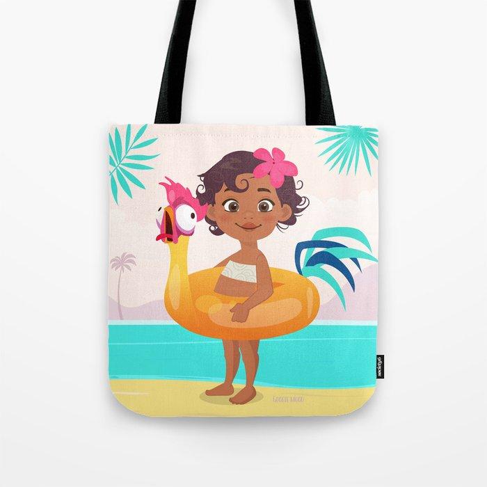 Baby Moana & Hei Hei Tote Bag
