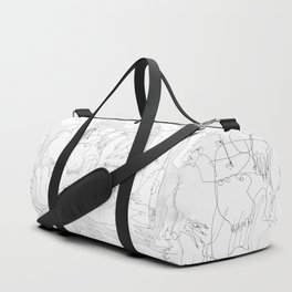 The Fallen - b&w Duffle Bag