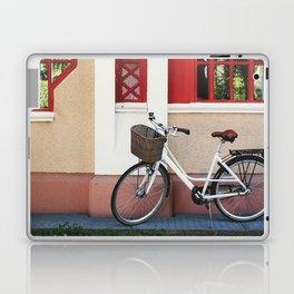 White vintage bike Laptop & iPad Skin