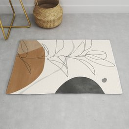 Abstract Art /Minimal Plant Rug