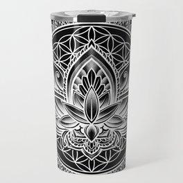 Lotus Mandala - Black Travel Mug