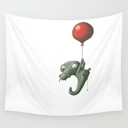 Crocodile in Trouble Wall Tapestry