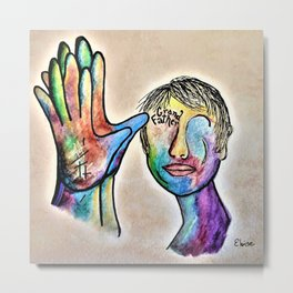American Sign Language Grandfather Metal Print