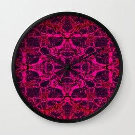 Red kaleidoscope pattern Wall Clock